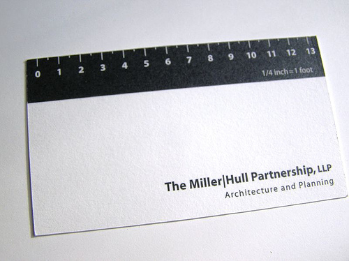 Ruler for measurement business card