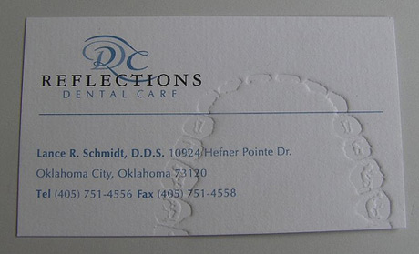 Teeth Impressions business card for dentist