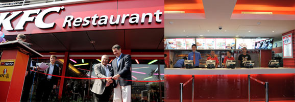 KFC and Pizza Hut Restaurant Opening
